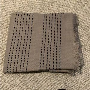 J Crew scarf, grey with navy details